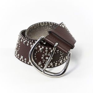 Marciano genuine leather wide hip belt studded boh
